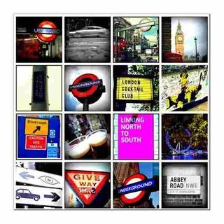 Cuadro Focu Deco Lienzo Canvas 20x20 London Collage