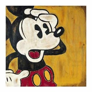 Cuadro Focu Deco Lienzo Canvas 20x20 Disney Retro - Mickey