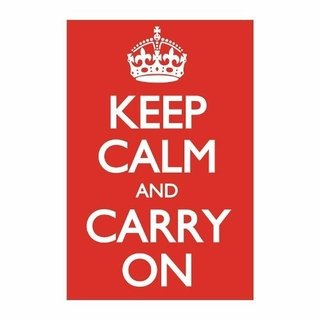 Cuadro Focu Deco Lienzo Canvas 20x30 Keep Calm - Rojo