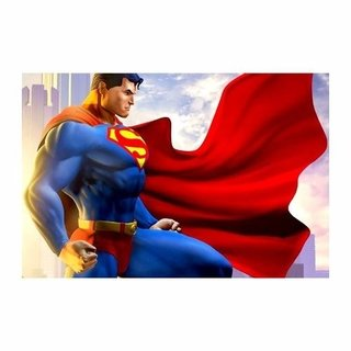 Cuadro Focu Deco Lienzo Canvas 20x30 Superhéroes - Superman