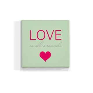 Cuadro Focu Deco Lienzo Canvas 20x20 Love Is All Around