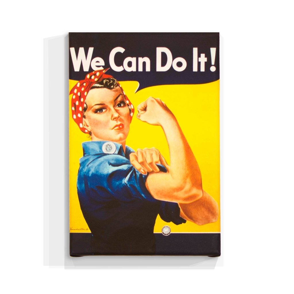 Cuadro Focu Deco Lienzo Canvas 20x30 Vintage - We Can Do It