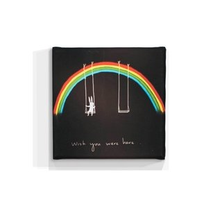 Cuadro Focu Deco Lienzocanvas 20x20 Wish You Were Here