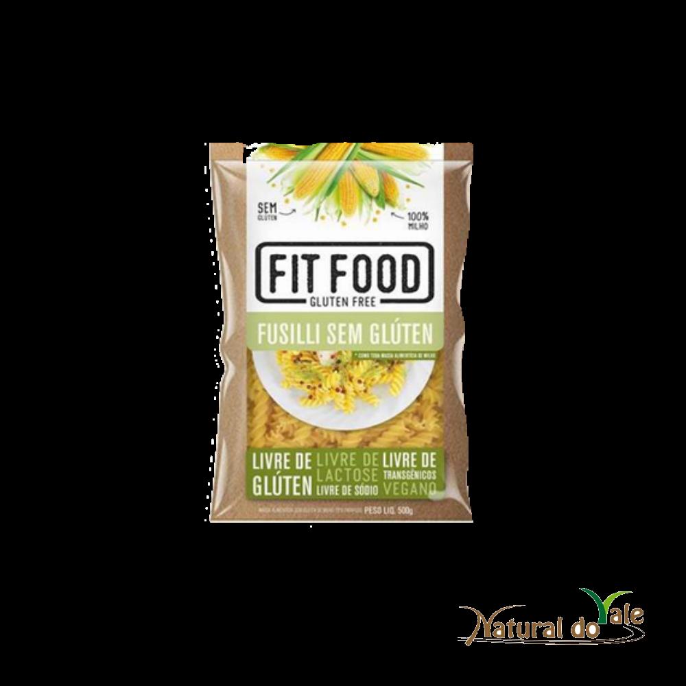 Macarrão de Milho Fusilli 500g Fit Food - Vegano Sem Glúten