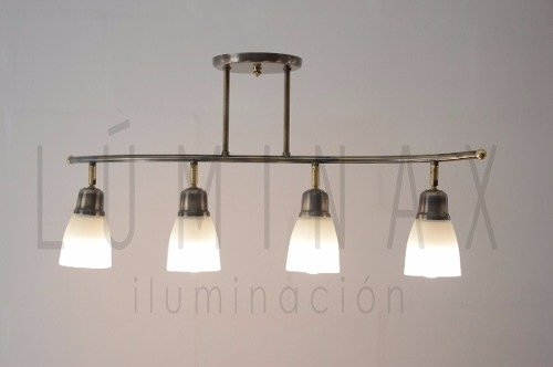 Lampara Colgante Multilampara Living Comedor Vidrio Led