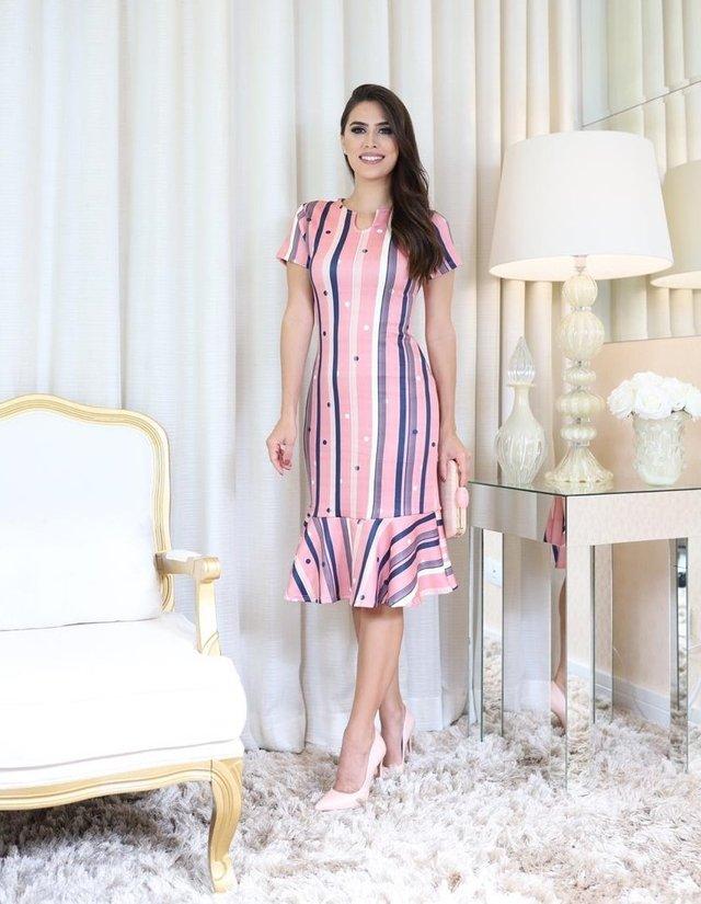 b5f0fe0efc 8230 - Vestido Lisiele - Virtuosa Boutique Evangélica