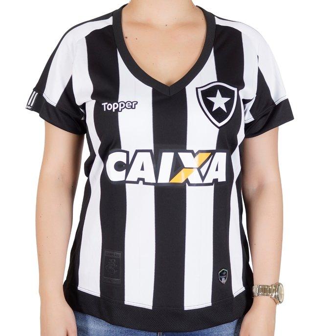 f563b04d07 Camisa do Botafogo Feminina Home 2017 com patrocínio
