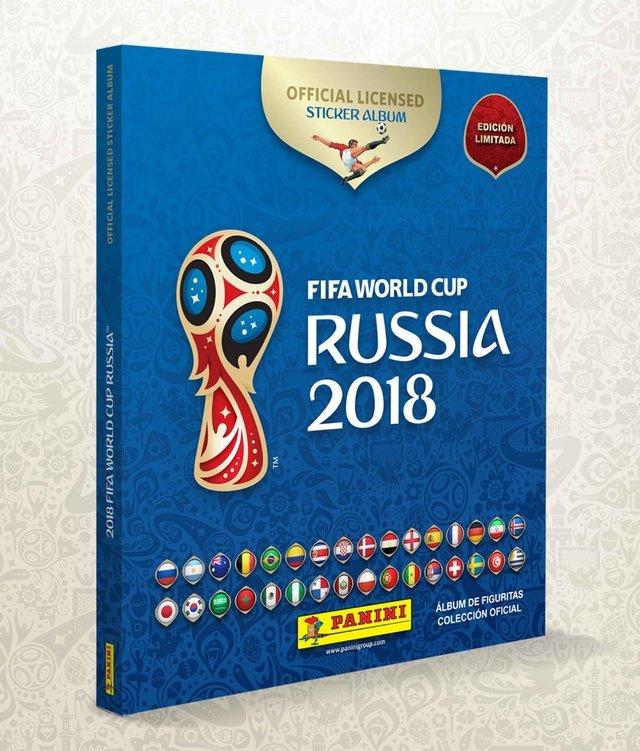 1 album tapa dura copa mundial de la fifa rusia 2018