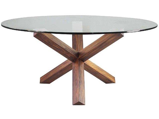 Base de mesa de jantar de madeira for Bases de mesas cromadas