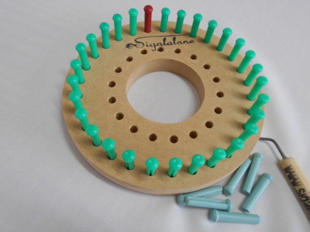 Telar Bastidor Circular Redondo Regulable 11 Y 16cm (2 En 1)+ AGUJA ...