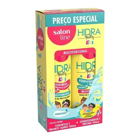 Kit Salon Line Shampoo + Condicionador Hidra Multy Kids 300ml
