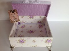 Caixa florzinhas Lilas Presente - Art in The Box Gi Moraes Almeida