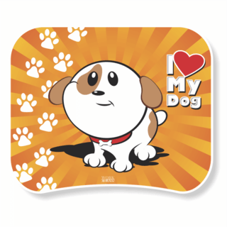 1127-MOUSE PAD polytec I LOVE MY DOG