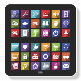 1128 - Mouse Pad Polytec ESTAMPA ICONS