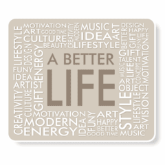 1157-Mouse Pad Better Life