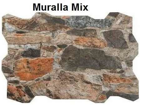 Revestimiento simil piedra ceramica muralla mix pared for Revestimiento de piedra para banos