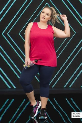 Regata Plus Size Estilo do Corpo - Cherry