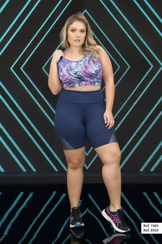 Bermuda Plus Size Estilo do Corpo - Triangle