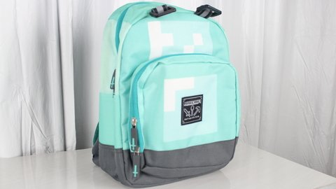 Mini Mochila Minecraft de Diamante