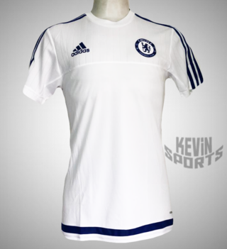 3e536ab76ef94 Camisa de treino Adidas Chelsea - Branco e Marinho