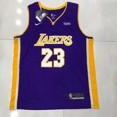 Regata Nike LA Lakers Lebron James Roxa