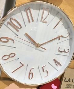 RELOJ COBREADO RELIEVE 25cm