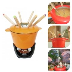 SET FONDUE DE HIERRO ORANGE - comprar online