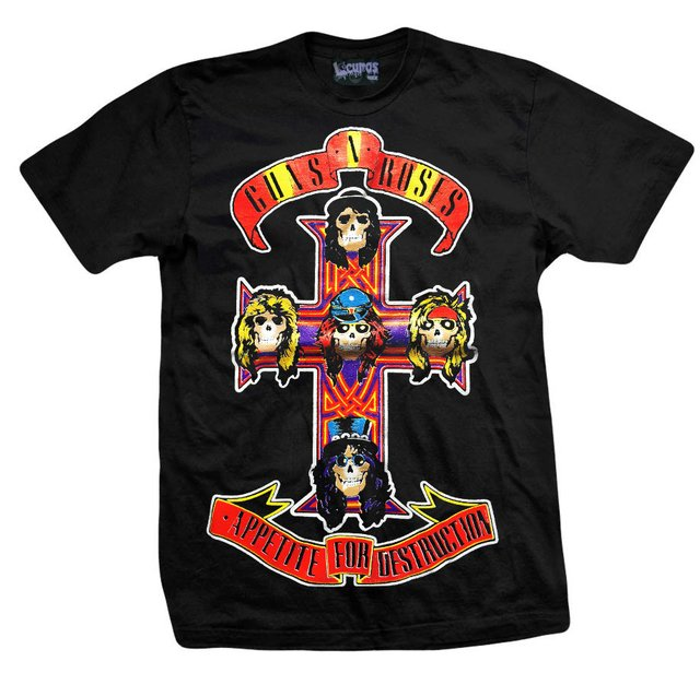 Remera GUNS AND ROSES APPETITE FOR DESTRUCTION