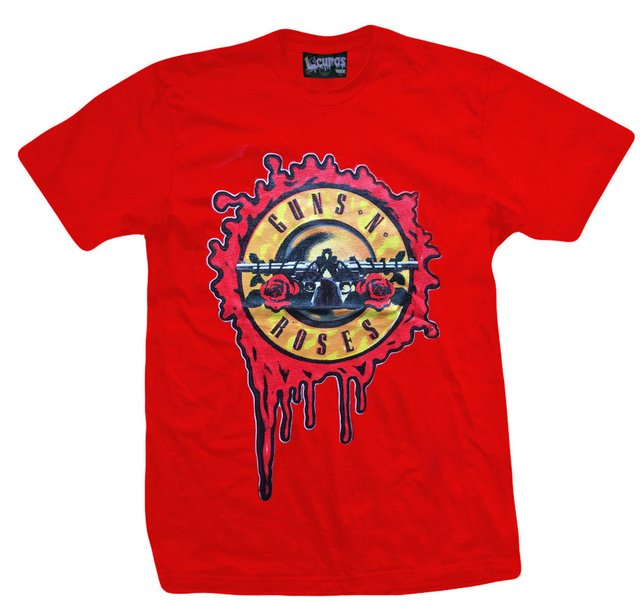 Remera GUNS AND ROSES LOGO ROJA