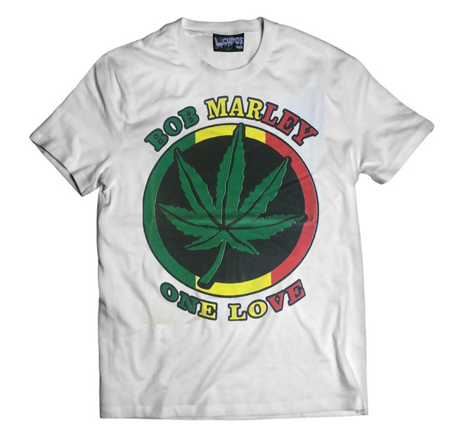 Remera BOB MARLEY ONE LOVE BLANCA
