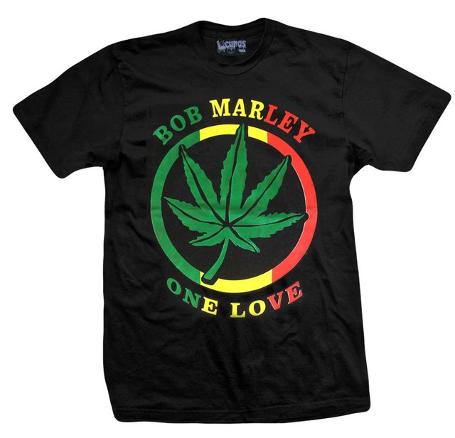 Remera BOB MARLEY ONE LOVE NEGRA