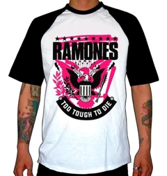 Remera Combinada Ramones - Too Tough To Die