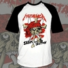 Remera Metallica Combinada - Seek and Destroy