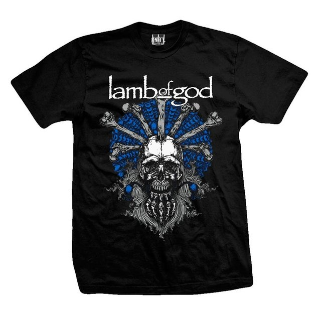 Remera LAMB OF GOD SKULL WIZARD