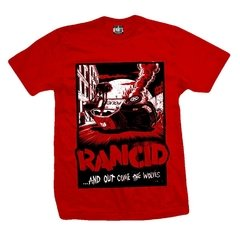 Remera RANCID POLICE CAR RED