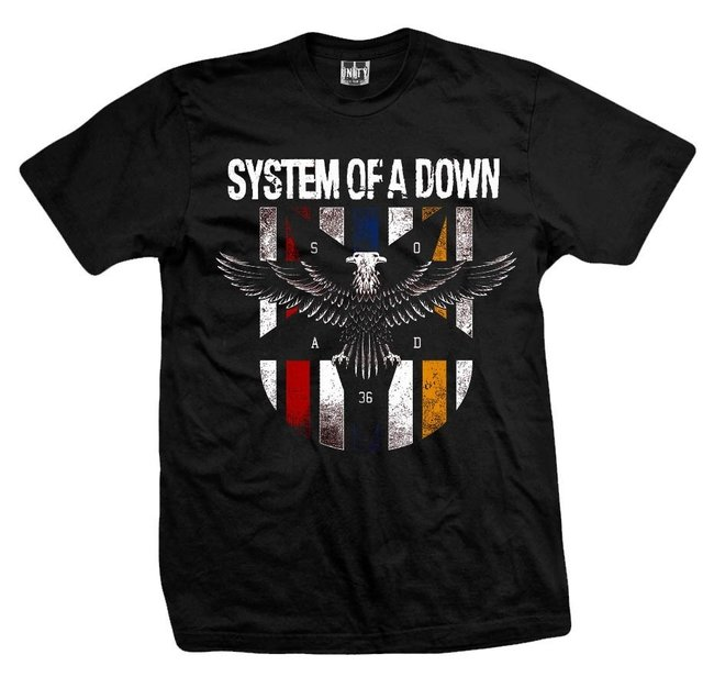 Remera SYSTEM OF A DOWN BLACK