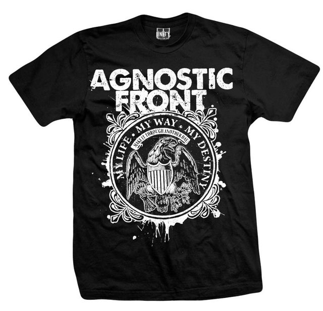 Remera AGNOSTICS FRONT MY LIFE Y WAY MY DESTINY