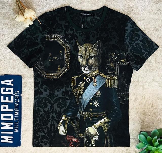 "9d55d046994 T-shirt D G ""Royal Pet"" - Mimopega multimarcas"