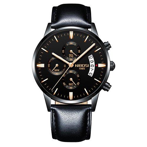 eada3ab01d6 Relógio NIBOSI Couro 100% Funcional - Yasmin Store