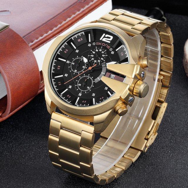 4133b6fa1f8 Relógio Skone Army Funcional Gold - Yasmin Store