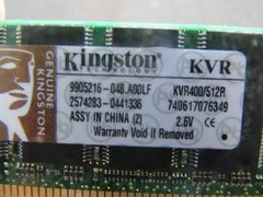 Memória Para Pc Desktop Kingston Ddr1 400mhz 512mb 2.6v - WFL Digital Informática