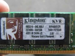 Memória Para Pc Desktop Kingston Ddr1 400mhz 512mb 2.6v na internet