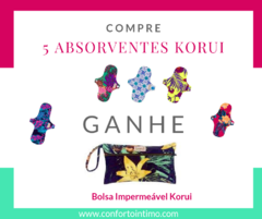 Absorvente Normal com Abas - Korui - Hibisco Amarelo na internet