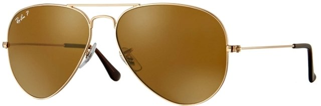 ray ban aviador marrón
