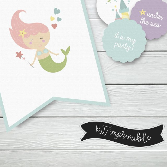KIT IMPRIMIBLE EXPRESS SIRENAS - Rayo en papel