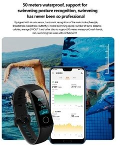 Imagen de Sport Smart Band Huawei Honor 4 Sumergible Deportes Cardiaco