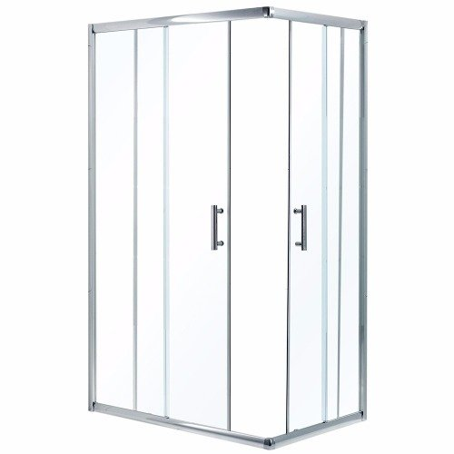 Box ducha cabina 100x80 rectangular transparente con recept - Cabina ducha rectangular ...