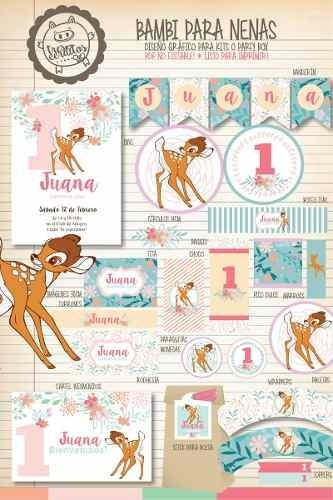Kit Imprimible Bambi Disney Vintage Candy Bar Deco !