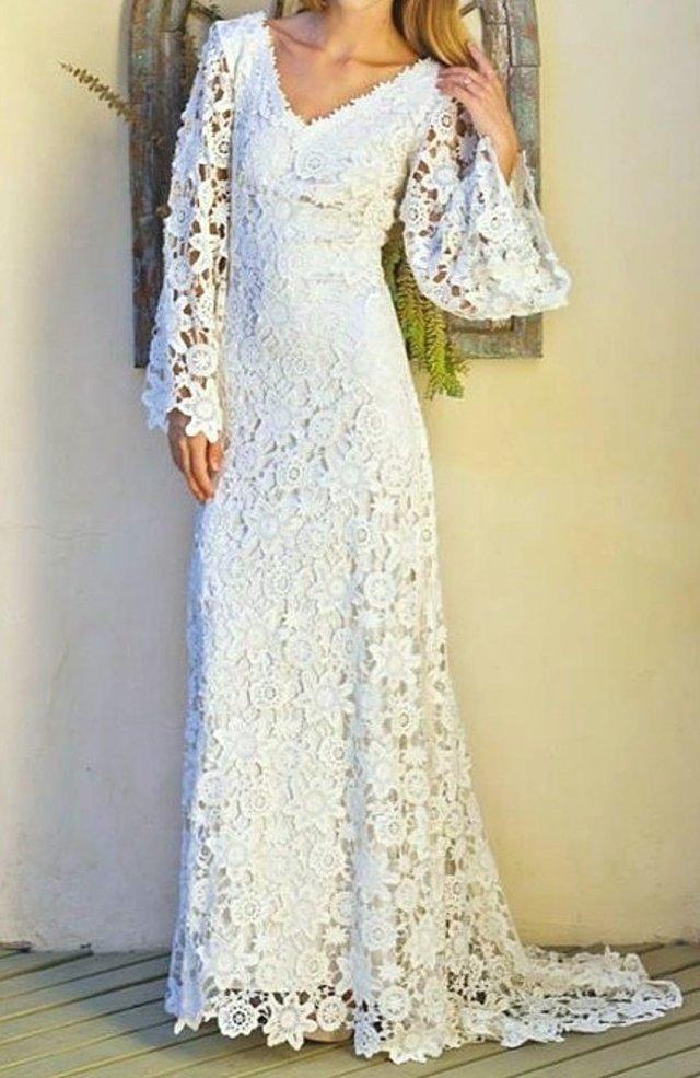 Vestido noiva renda guipir