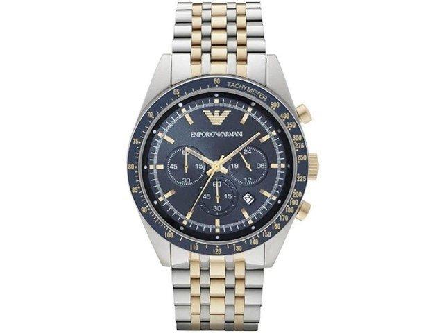11e2f8d6344 Relógio Emporio Armani Classic AR5905 Prata Dourado